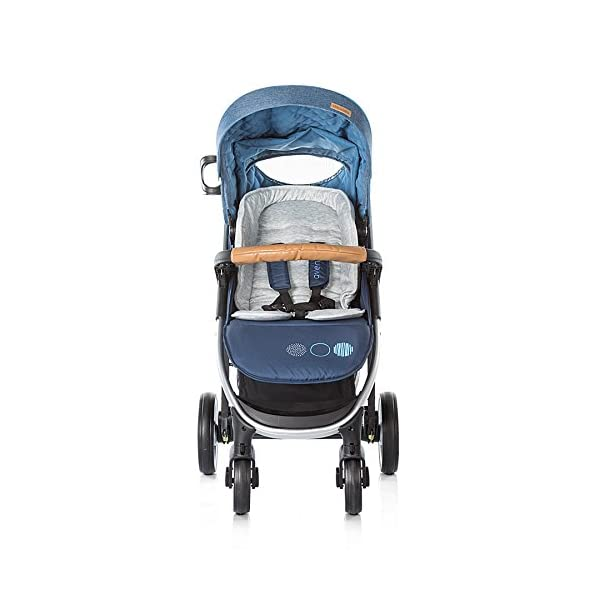 Chipolino Baby Stroller and Carry Cot Avenue, Navy Chipolino Can also be transformed into a carry cot Comfortable upholstered carrycot with mattress and carry handle Single front swivel lockable wheels 8