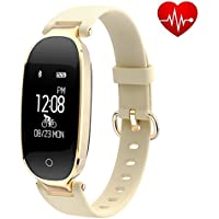 Fitness Tracker for Women Heart Rate Monitors Step Counter Activity Trackers Smart Bracelet Smart watch IP67 Waterproof Bluetooth Pedometer Wristband Sleep Monitor for Android & IOS Smartphone