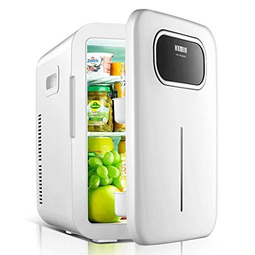 Jiongzhuo 20L Auto Kühlschrank Auto Dual-Use-Mini Small Home Student Schlafzimmer kosmetische Maske Trinken Obst Milch Mahlzeit Fleisch gekühlt frisch Single Core Smart Version (Farbe : Weiß)