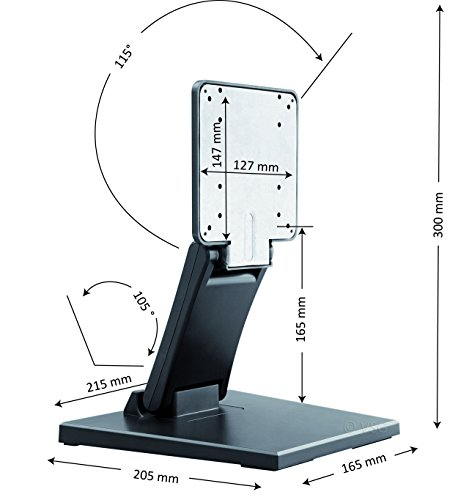 comprare on line Supporto stabile per touchscreen POS e monitor PC / 10- 22 pollici / regolabile / intelaiatura in paglietta / peso netto elevato / VESA 100 & 75 / supporto da tavolo / supporto display prezzo