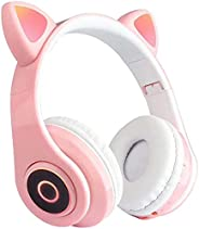 Cat Ear Glowing Headphone B39 Over Ear Music Headset Foldable Wireless BT5.0 Earphone Hands-free with mic AUX