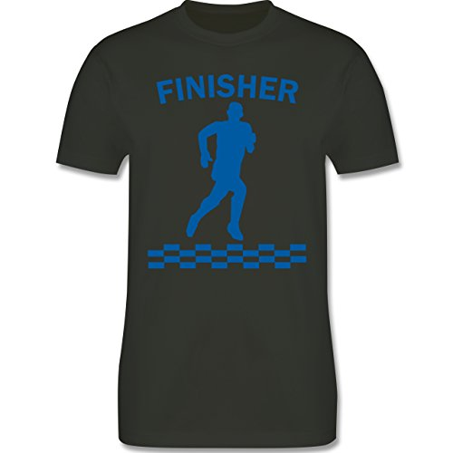 Laufsport - Finisher - Herren Premium T-Shirt Army Grün