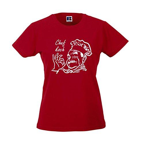 Girlie-Shirt - Chefkoch Rot