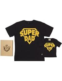 Spoilt Rotten - SuperDad SuperKid - 100% Bio-algodón - Papá y bebé camisetas Gift