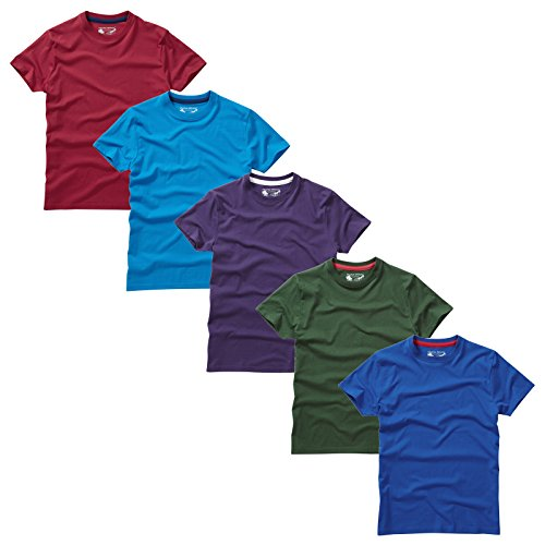 Charles Wilson Pack de 5 T-Shirts Unis à Col Rond