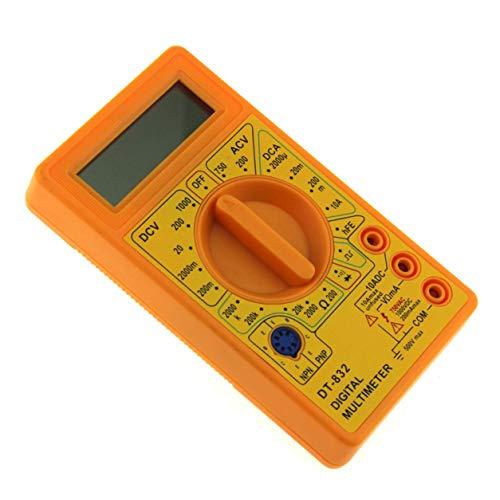 igitalmultimeter 1999 zählt AC/DC Volt Amp Ohm-Diode HFE Durchgangsprüfer Amperemeter Voltmeter Ohmmeter (Farbe: Gelb) ()