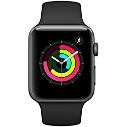 Apple Watch Series 3 GPS, 42mm space grau Aluminium Case, Sportarmband schwarz Apple Watch