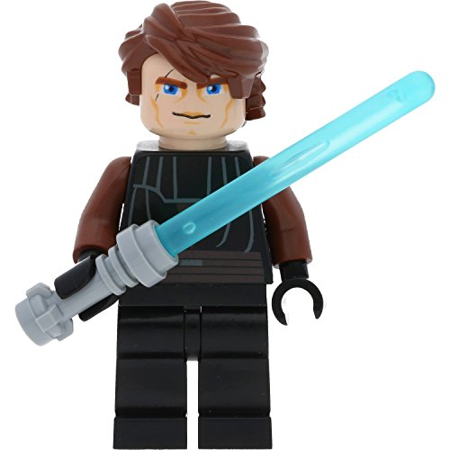 LEGO Star Wars Minifigur Anakin Skywalker (Clone Wars) mit GALAXYARMS Waffen (Lego Star Skywalker Wars)