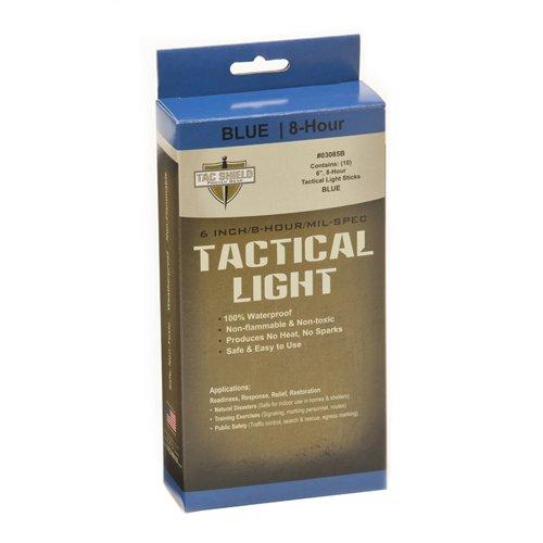 TAC SHIELD TACTICAL LUZ VARILLAS X 10  COLOR AZUL