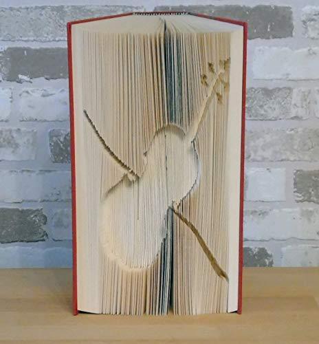 gefaltetes Buch - Geige // Buchkunst // Bookfolding // Buchfalten // Book Art // Dekoration // Geschenk // Musik // Musikinstrument