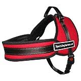 Hundegeschirr für Hunde, ergonomisch, gepolstert und verstellbar, mit kurzem Griff, reflektierend