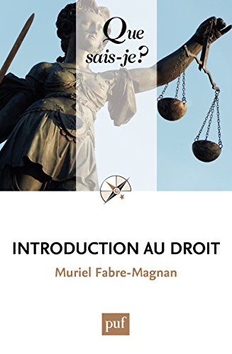Introduction au droit: « Que sais-je ? » n° 1808 par Muriel Fabre-Magnan
