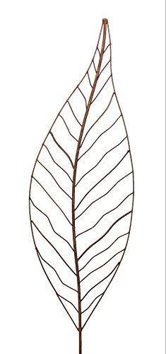 Gartenstecker Edelrost - Farn klein - Rankhilfe Gartendeko Höhe 110 cm