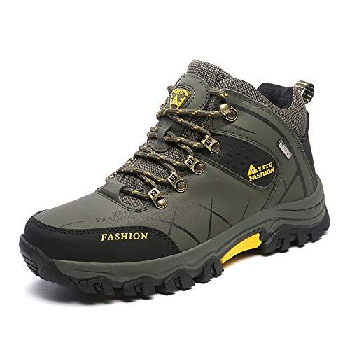 Idea Frames Herren Wanderschuhe Outdoor Sneaker Leichte rutschfeste Trainer für Trekking Camping Sportschuh, Grün, 42 EU (Herstellergröße: 43)
