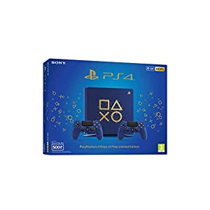 Sony Playstation 4 Slim Days of Play Limited Edition 500GB, Blue, E-Chassis + 2 Controller
