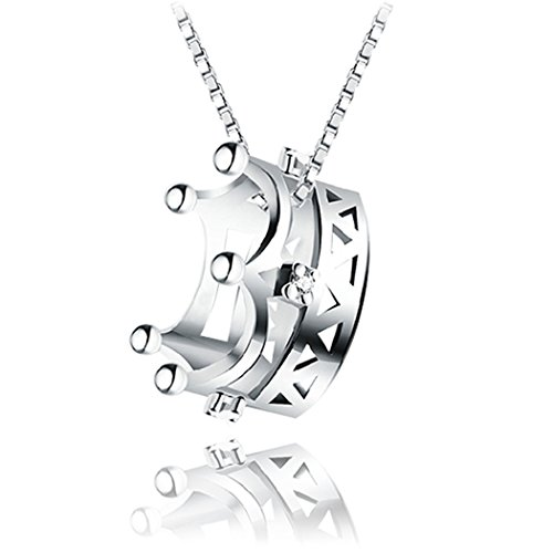 time-pawnshop-elegant-princess-imperial-crown-sterling-silver-cubic-zirconia-lady-pendant-necklace