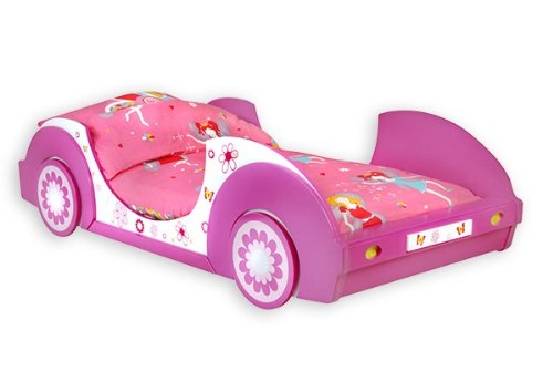 Kinderbett Mädchenbett Autobett Butterfly Bett 90x200 Kinderzimmer inkl. Lattenrost Jugendbett