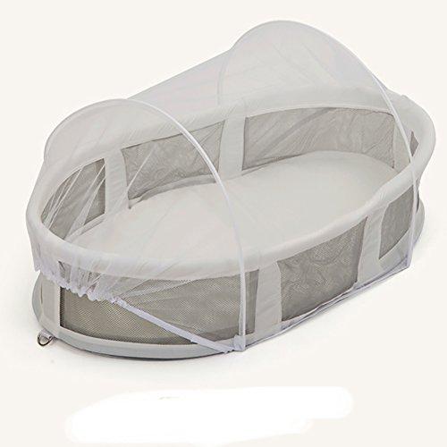 GXYLTT Plegable Multifuncional Portátil Cuna De Viaje Colecho,100% Algodón Transpirable Cuna Con Mosquitero Cama De Bebé Ligera Adecuada Para 0-1 Año-A