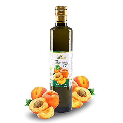 zertifiziertes Bio kaltgepresst Aprikosenkernöl 500ml biopurus