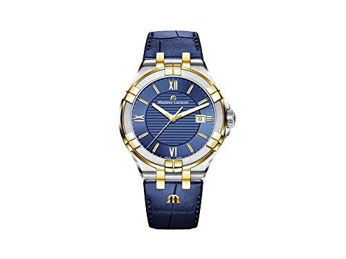 Reloj de Cuarzo Maurice Lacroix Aikon Gents, Azul, 42 mm, PVD Oro