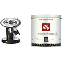 Francis Francis for Illy X7.1 Expresso Coffee Maker, Black with illy Iperespresso Dark Roasted 21 Espresso Capsules, 140.7g (Pack of 2, Total 42 Capsules)