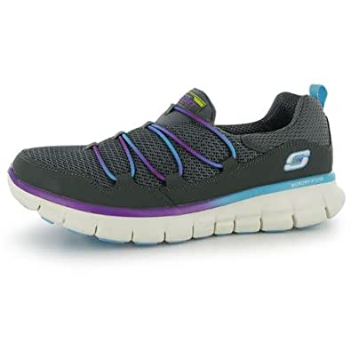 Skechers Womens Synergy Loving Life Ladies Trainers Charcoal/Multi 6