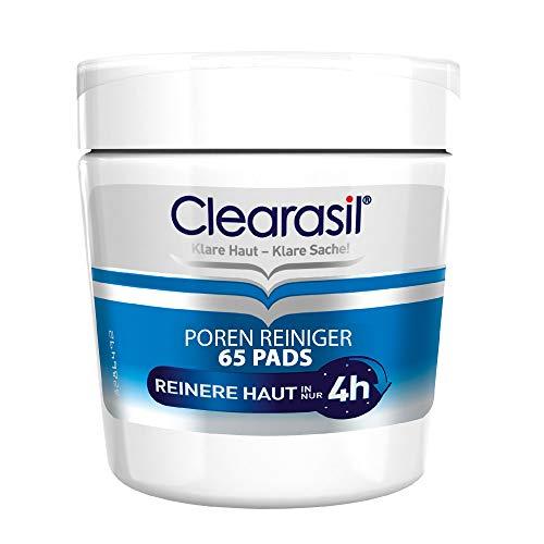 Clearasil Poren Reiniger Pads, Gegen Pickel und Hautunreinheiten, 1er Pack (1 x 65 Pads)