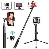 MATONE Perche Selfie, 2 en 1 Extensible Bluetooth Selfie Stick Trépied avec...