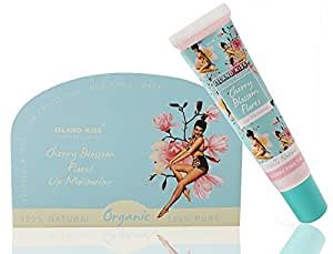 Island Kiss, 100% Natural, Organic Lip Balm, Moisturiser & Tint With Spf 15, Cherry Blossom Flores, 14Gms