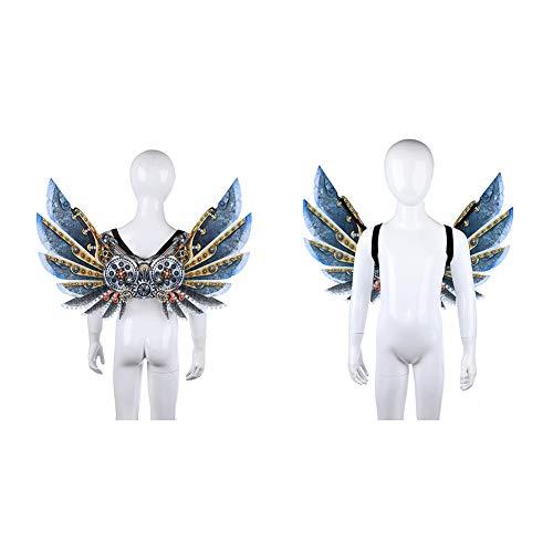 Fayeille Gear Mechanische Flügel, Halloween Karneval Stage Wings Cosplay Party Geschenk Cyber   Maskerade Kostüm Steampunk Gear Zubehör Erwachsene & Kinder