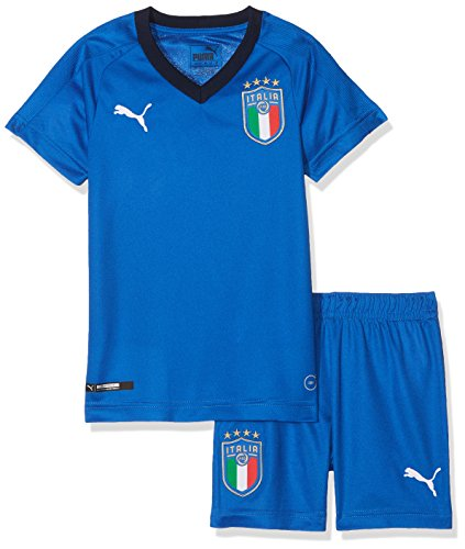 923b61a75771 Puma FIGC Italia Home Minikit Kit de Veste et Pantalon Enfant, Team Power  Blue/