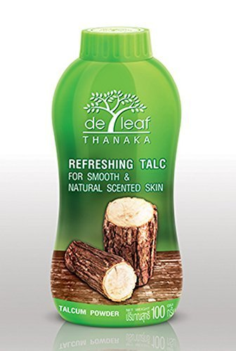 Amazing Powder!!! Create a Key to Unlock the Natural Beauty in Women's Skin  Deleaf Thanaka Talcum Powder for Smooth & Natural Scented Skin 100g by