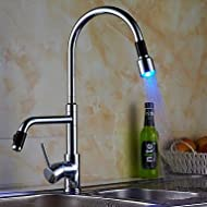 SHUYOU® Contemporary Single Handle LED Pull-out Kitchen Faucet
