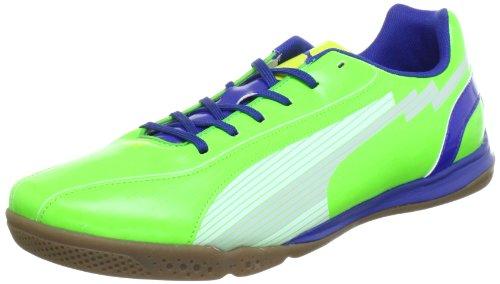 PUMA evo SPEED 5 IT INDOOR verde blue (ART. 102589-05) - scarpe da calcetto futsal (EUR 45 - CM 29.5)