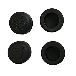 Feicuan Anti-slip Silikon Thumb-Stick-Kappen Stick Schutzkappen für Nintendo Switch Joy-Con Controllers (Black ,Pack of 4)