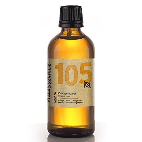 Naissance Orangenöl, süß 100ml 100% naturreines ätherisches Öl (& Erkältungen Grippe-massage-Öl)