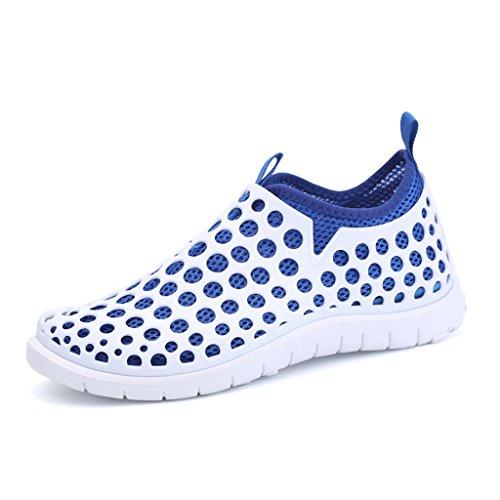 Oriskey Chaussons pour Sport Aquatique Aqua Chaussures nautiques de plage et deau de randonnée pour homme blanc bleu