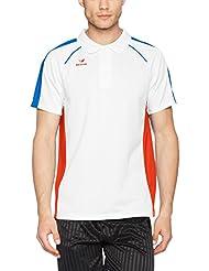 Erima Hombre Masters Blanco de Polo Camiseta, todo el año, hombre, color weiß/Grenadine, tamaño XXXL