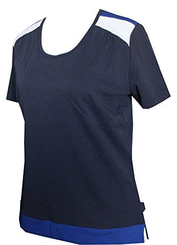 Schneider Sportswear Enya Damen Shirt Pulli T-Shirt grau/blau/weiß