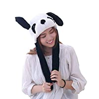 Bestmaple Funny Plush Bunny Hat Cap/Cute Animal Hat/Head-wear Costume Accessory Valentine's Day Gifts Rabbit Hat (Panda)