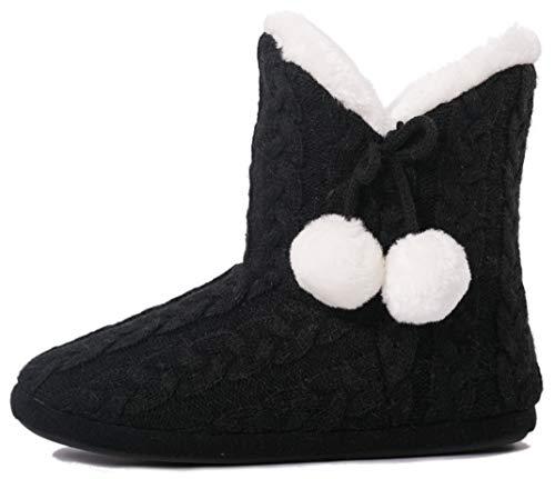 Airee Fairee Hausschuhe Damen Pantoffeln Stiefel Schuhe mit Weichen