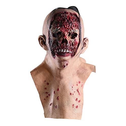 Jiahe Halloween-Latexmasken aus Resin mit Deluxe Qualität Schrecklicher Horror Halloween-Stil Halloween-Kostüm Devil Men, geeignet für die meisten Erwachsenen