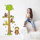 80x150cm, Wandtattoos, Cartoon Tiere Apfelbaum Höhe Measurefor Kinderzimmer Schlafzimmer...