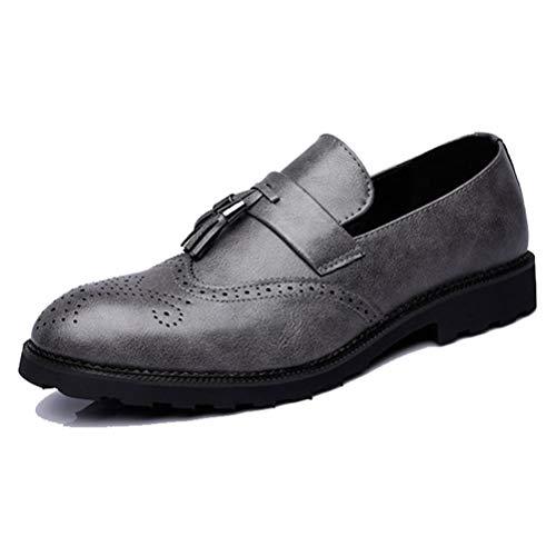 Scarpe da Uomo Brogue Scarpe da Uomo Formali Abito da Lavoro per la Festa di Nozze Scarpe Oxford in Pelle Microfibra