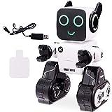 Costway Robot per Bambini con Telecomando, Bravo a Cantare, Ballare, Registrare e Camminare, Cambio della Luce, Salvadanaio Integrato, Ricaricabile (Bianco)