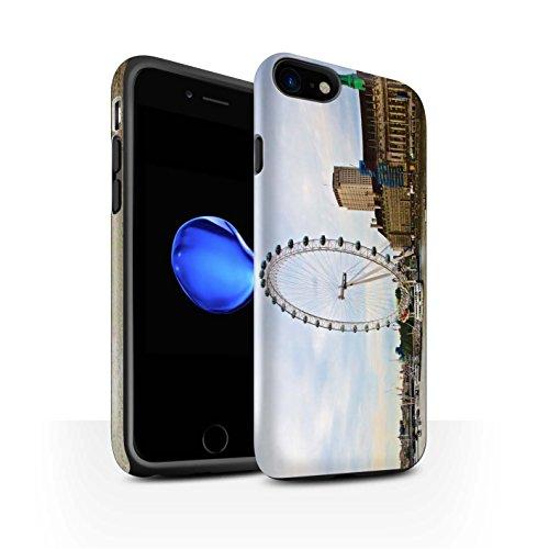 STUFF4 Matte Harten Stoßfest Hülle / Case für Apple iPhone 7 / City of London Muster / Seiten London Kollektion London Eye