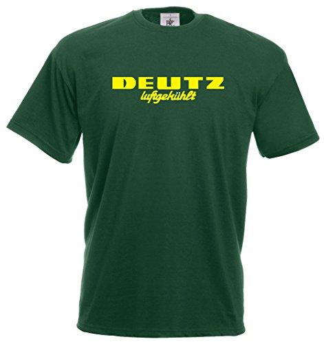 Deutz T-Shirt | grün | gelber Druck | Größe L