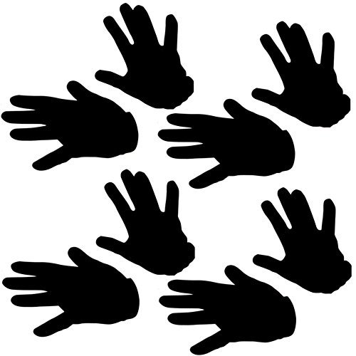 German Trendseller® - 4 x Paar Handschuhe Schwarz Edel ┃ SPAR-PACK ┃ 100% Polyester (Minion Kinder Für Halloween Kostüm)