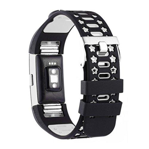 Preisvergleich Produktbild Sansee Mode Sport Neue Silikon Armband Armband Band für Fitbit Charge 2 / Silikon Armband Strap Band (Weiß)