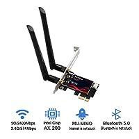 محول واي فاي جيجابت PCI-E WIFI 6 AX200NGW بطاقة شبكة لاسلكية ثنائية النطاق Intel AX200 802. 11ax BT5. 0 W / حافظة واقية لـ Win10